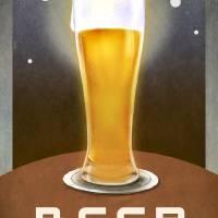 beer -- no beverages before ME poster by r christopher vest