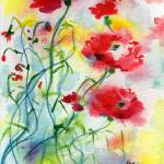 """Dreamy Poppies Watercolor by Ginette"" by GinetteCallaway"