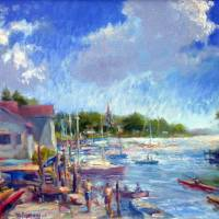 Wickford Cove Art Prints & Posters by Blaney Harris
