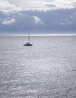 Sailboat at anchor