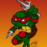 """Raphael Teenage Mutant Ninja Turtle"" by EdMedArt"