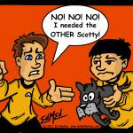 """""""Kirk and the Other Scotty"""" by EdMedArt"""