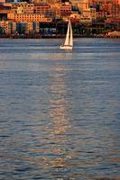 Sailboat and reflection 13934