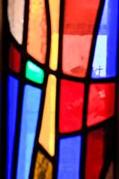 Cross in the stained glass 20910