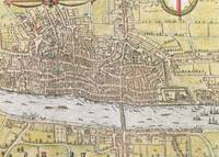 Map of London, from 'Civitates Orbis Terrarum'