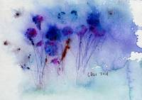 'Wildflowers' Abstract Watercolor