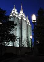 Salt Lake Mormon Temple at Twilight
