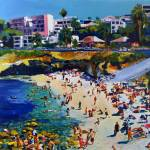 """La Jolla Cove and Village by RD Riccoboni"" by BeaconArtWorksCorporation"