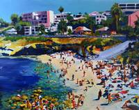 La Jolla Cove and Village by RD Riccoboni