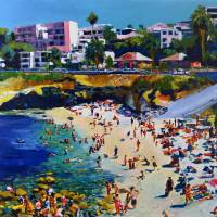 La Jolla Cove and Village by RD Riccoboni Art Prints & Posters by RD Riccoboni