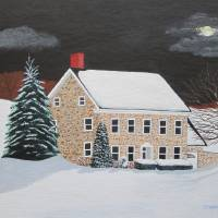 """Moonlit Cottage"" by Stephanie Hess"