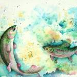 """Rainbow Trout"" by ShoshannaBauer"