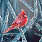 """""Cardinal On Ice, 2"""" by foxbrush"