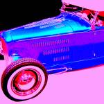"""Blue Roadster On Pink"" by DonStruke"