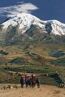People on Dirt Road near Chimborazo, Ecuador
