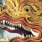 """Detail, Dragon Deity Statue, Chiang Mai, Thailand"" by petrsvarc"