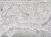 Town map of Constantinople, Turkey, c.1650