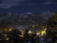 Full Moon over Estes Park