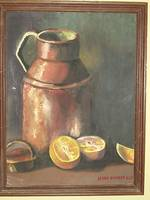 Milk Jug and oranges