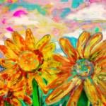 """Colorful Sunflowers"" by Tanya_Dawn_Art"