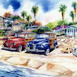 """Two Woodies at Crystal Cove"" by WillyDaleArt"