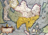 Asia: Map of the continent including Japan