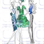 """Illustration....Fashion Friends"" by chowarddesigns"