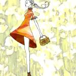 """Illustration...Swing Girl"" by chowarddesigns"