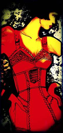 1980 red corset
