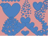 Blue Hearts On Rose