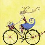 """Illustration....bike whimsy"" by chowarddesigns"