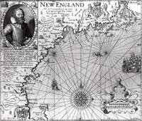 Map of the Coast of New England