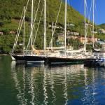 """Sailboat and Reflections, Tortola, BVI"" by RoupenBaker"