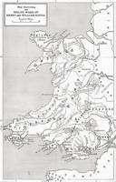 Map illustrating the Welsh wars of William Rufus