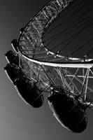 london eye Black and white image