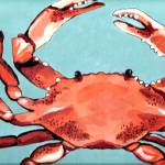 """Red Crab"" by BThomasStudios"
