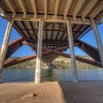 """Under 360 Bridge ~ During Sunset ~"" by eyeates"