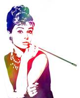 Painted Audrey (Breakfast at Tiffanys)