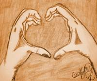Two Hands One Heart Sepia