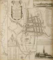 Map of Salisbury, 1751 (engraving) by William Nais