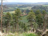 View From Devil's Tower Towards Black Hills