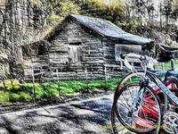 Two Bikes and An Old Shack