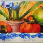 """""Persimmons and green apples 2"""" by artbyjpennington"