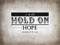 Hold On Hope (Gray)