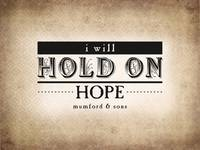 Hold on Hope (Sepia)