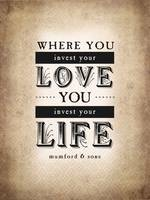 Where You Invest Your Love (Sepia)
