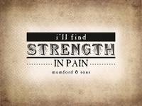 Strength in Pain (Sepia)