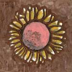 """Sunflower with pink"" by Jami"