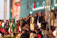 Salman Ahmed Plays National Anthem at PTI Rally in