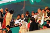 Imran Khan at PTI Rally in Karachi, Pakistan